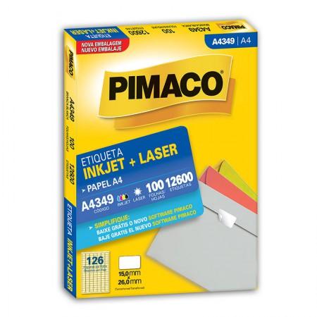 Etiqueta inkjet/laser A4349 - com 100 folhas - Pimaco