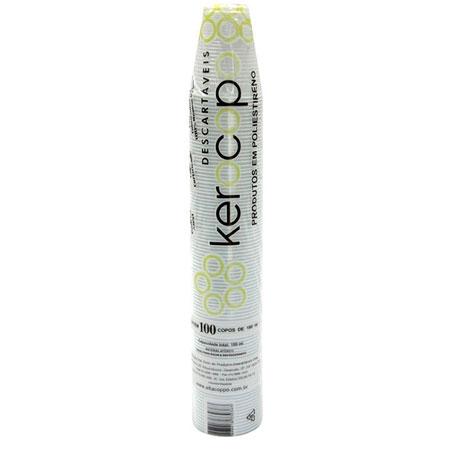 Copo plástico descartável KEROCOPO 180ml 100und Altacoppo