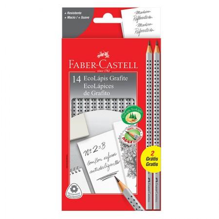 Lápis preto nr 2B - 2001B/F - caixa com 14 unidades - Faber-Castell