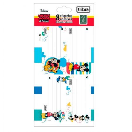 Etiqueta escolar Mickey - com 8 unidades - Tilibra