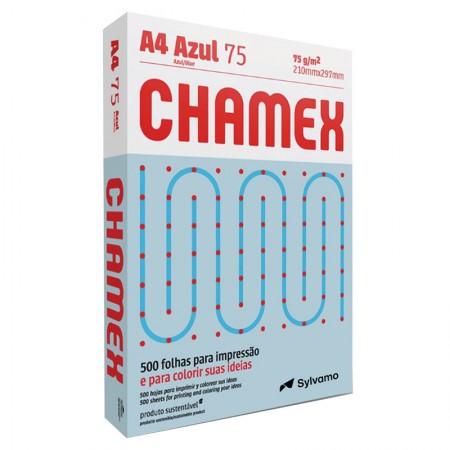 Papel sulfite A4 azul 210x297 com 500 folhas Colors - Chamex