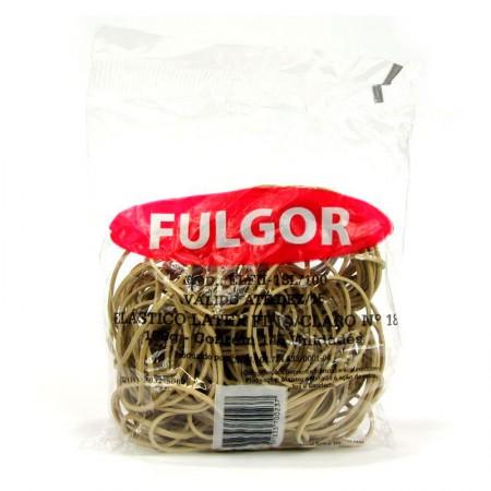 Elástico látex NR 18 Amarelo - pacote com 100g - Fulgor