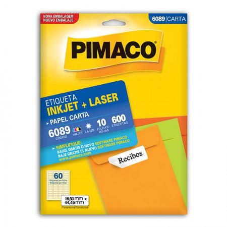 Etiqueta inkjet/laser carta 6089 - com 10 folhas - Pimaco