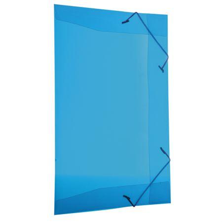 Pasta com aba elástico transparente ofício - azul - 254.C - Dello