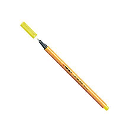 Caneta hidrográfica Fine Point 88/024 - Amarelo neon - Stabilo