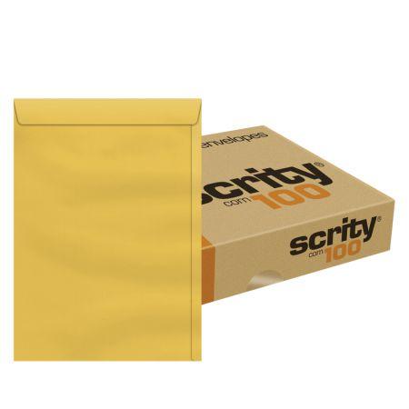 Envelope saco ouro SKO341 310x410mm - caixa com 100 unidades - Scrity