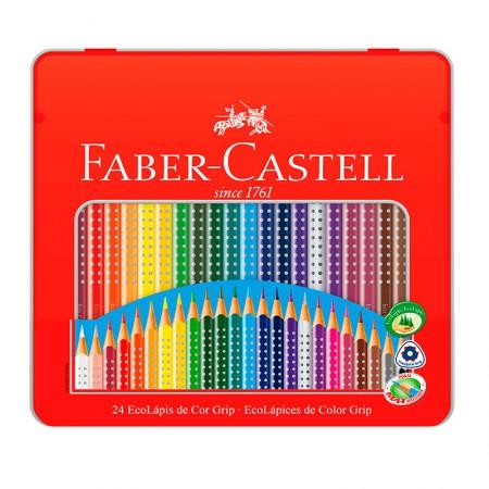 Lápis de cor Colour Grip 24 cores 121024LT - Faber-Castell