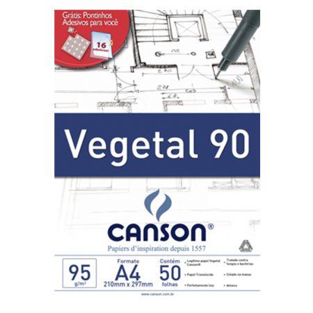 Papel vegetal liso A4 95g - com 50 folhas - Canson