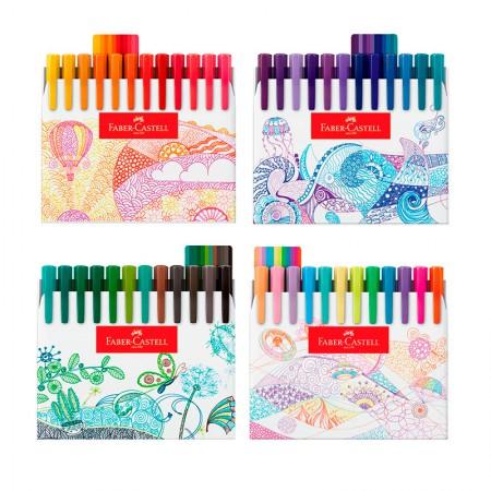 Caneta hidrográfica Fine Pen Colors - com 48 Cores - FPB/ES48ZF - Faber-Castell