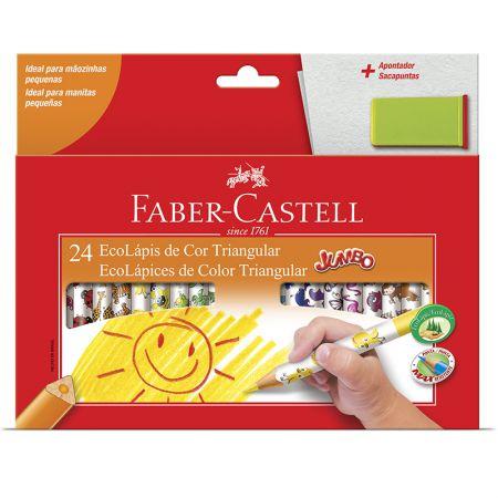 Lápis de cor 24 cores jumbo triangular 123024AP Faber-Castell