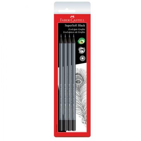 Lápis preto - SM/907SOFT - com 4 unidades - Faber-Castell