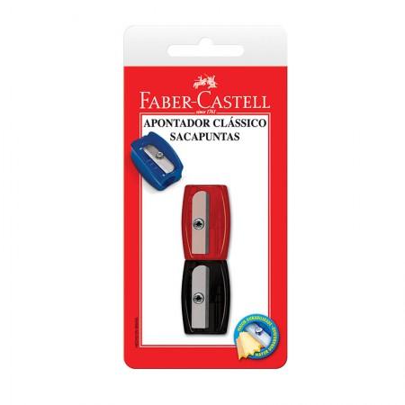 Apontador simples sortido - com 2 unidades - SM/060100ZF - Faber-Castell