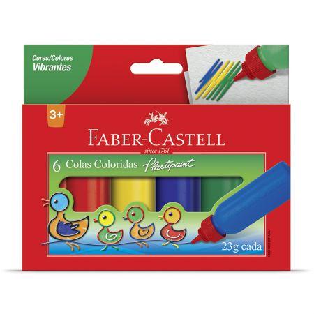 Cola Colorida - HT170106 - com 6 cores - Faber-Castell