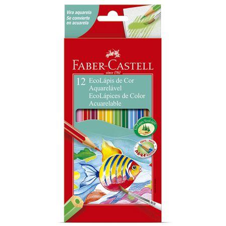 Lápis de cor 12 cores - aquarelável - 120212G - Faber-Castell