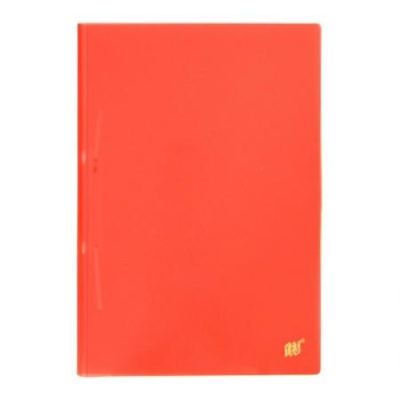 Pasta plástica com grampo ofício - transparente vermelha - 112S.VM - Yes