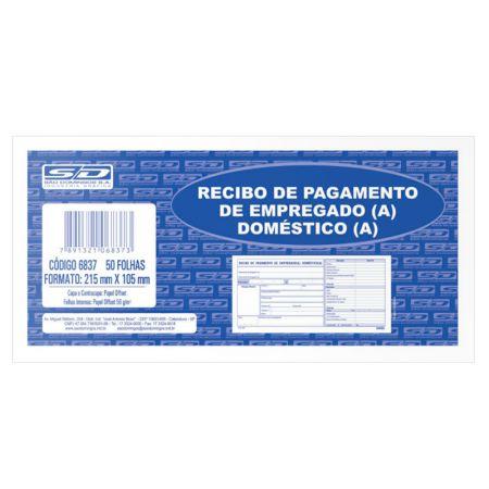 Recibo pagamento empregada doméstica - com 50 folhas - São Domingos