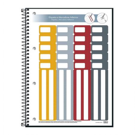 Caderno executivo espiral capa dura universitário Organizer - 80 folhas - Tilibra