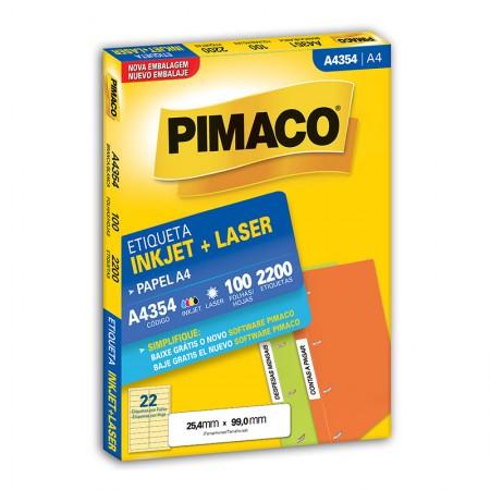 Etiqueta inkjet/laser A4354 - com 100 folhas - Pimaco