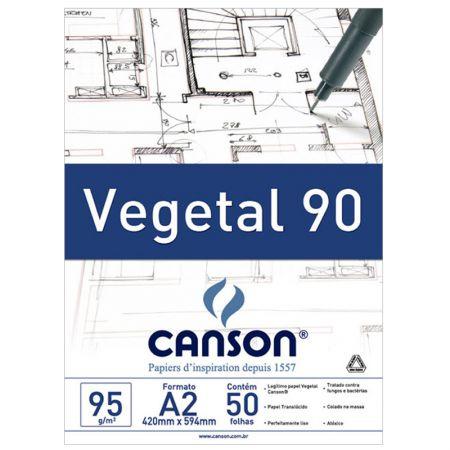 Papel vegetal liso A2 92,5g - com 50 folhas - Canson