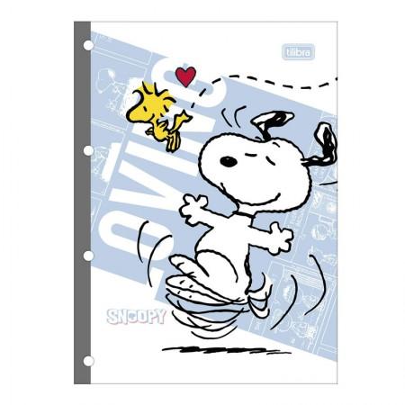 Bloco para fichário universitário Snoopy 4 furos - 80 folhas - 295221 - Tilibra