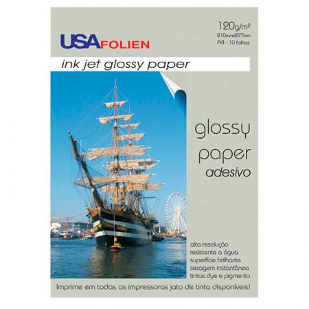 Papel fotográfico glossy paper adesivo A4 120g - 7295 - com 10 folhas - Usa Folien