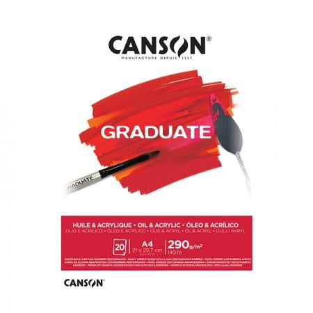 Bloco graduate óleo e acrílico A4 290g - com 20 folhas - Canson