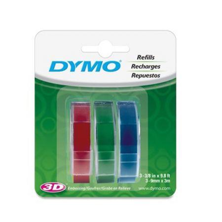 Fita para rotulador cores sortidas 3 unidades 9mm - 1741671 - Dymo