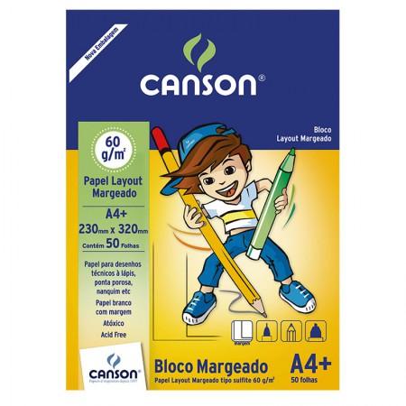 Bloco layout margeado A4+ 60g - com 50 folhas - Canson
