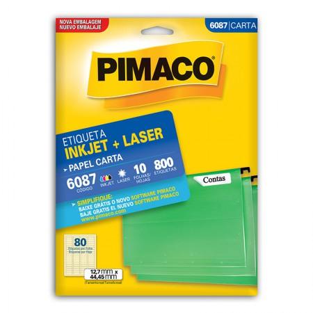 Etiqueta inkjet/laser carta 6087 - com 10 folhas - Pimaco