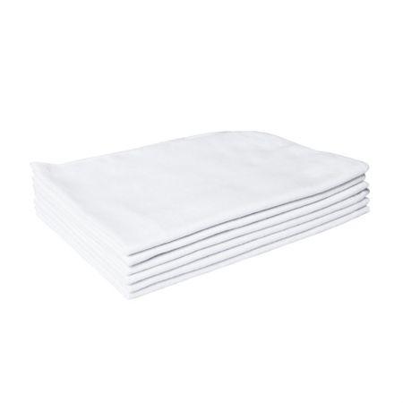 Flanela de algodão branca 38x58