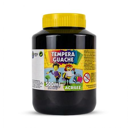 Tinta guache Preto 500ml - 520 - Acrilex