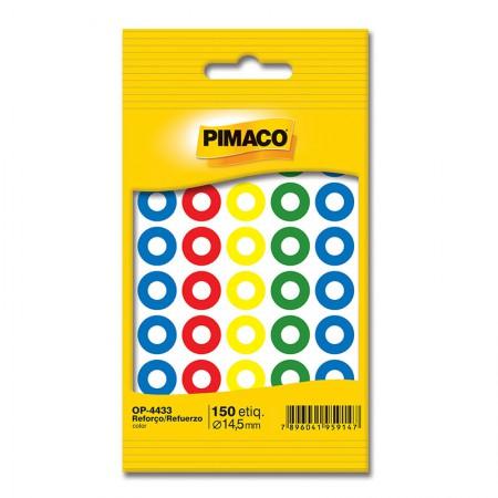 Reforço colorido autoadesivo OP4433 - com 150 unidades -  Pimaco
