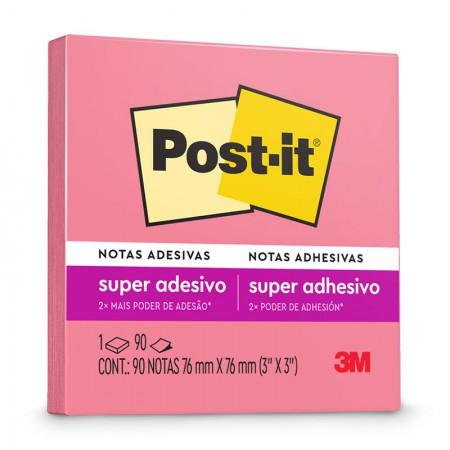Bloco Post-it 654 - Pink - com 90 folhas - 3M