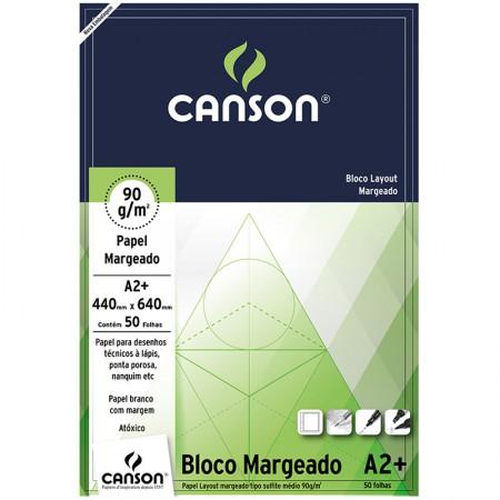 Bloco layout margeado A2+ 90g - com 50 folhas - Canson