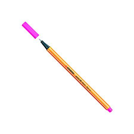 Caneta hidrográfica Fine Point 88/056 - Rosa neon - Stabilo