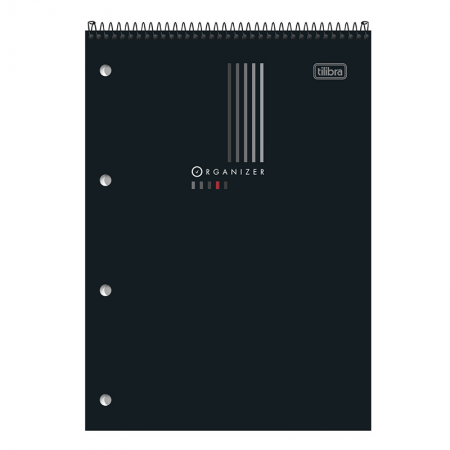 Bloco espiral pautado grande Organizer - 80 folhas - 130567 - Tilibra
