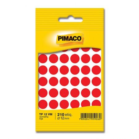 Etiqueta adesiva TP12 - vermelha - Pimaco