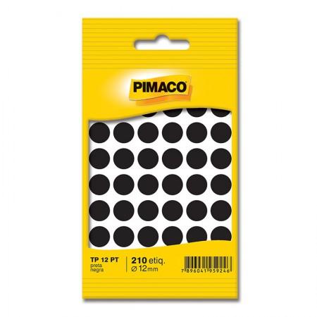 Etiqueta adesiva TP12 - preto - Pimaco