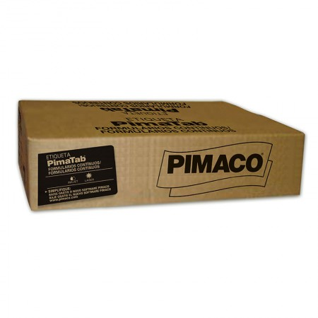 Etiqueta formulário contínuo 4 carreiras - 81X36 - caixa com 16000 - Pimaco