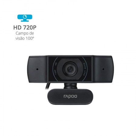 Câmera webcam usb HD 720p - C200 - Rapoo