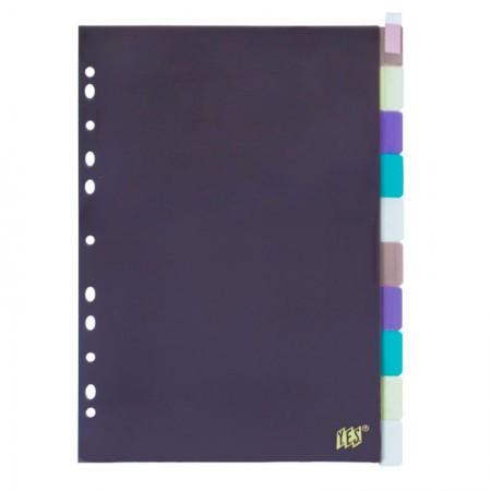 Divisória color ofício 10 projeções c/inserção 10INTB Yes