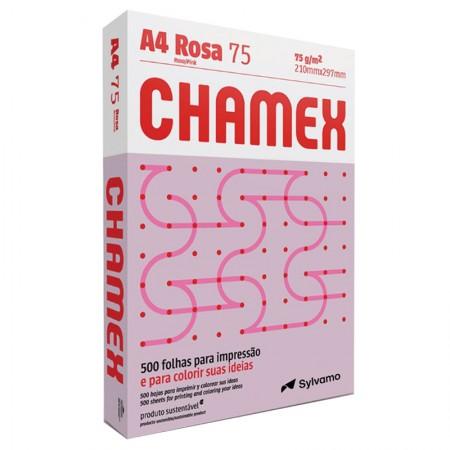 Papel sulfite A4 rosa 210x297 com 500 folhas Colors - Chamex