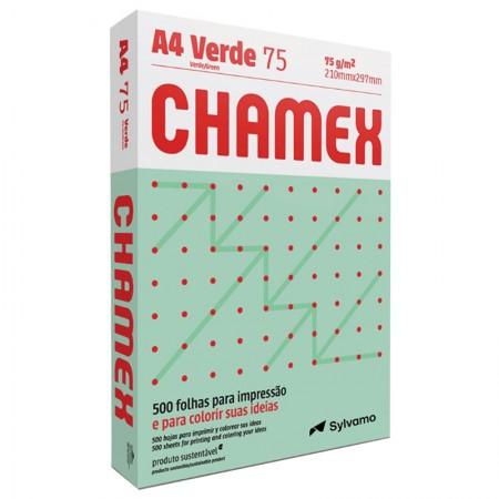 Papel sulfite A4 verde 210x297 com 500 folhas Colors - Chamex