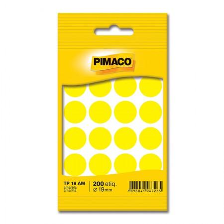 Etiqueta adesiva TP19 - amarelo - Pimaco
