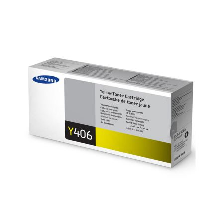 Toner Samsung CLT-Y406S / 4HZ00A - amarelo 1.100 páginas - serie CLP-360/365