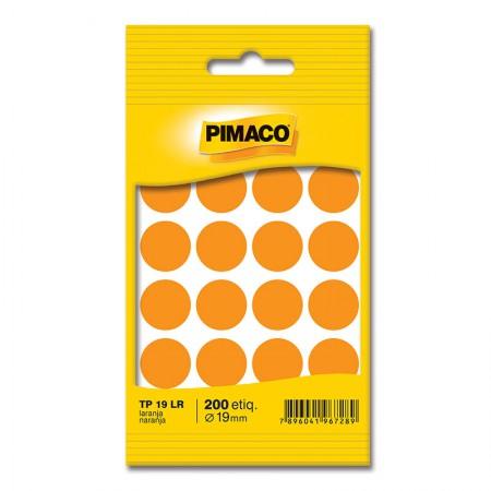 Etiqueta adesiva TP19 - laranja - Pimaco