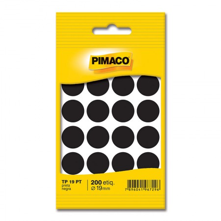 Etiqueta adesiva TP19 - preto - Pimaco