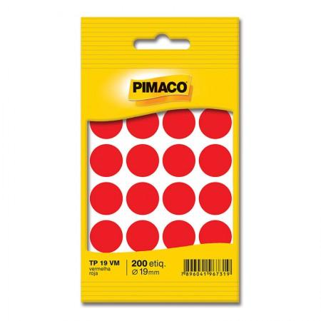 Etiqueta adesiva TP19 - vermelho - Pimaco