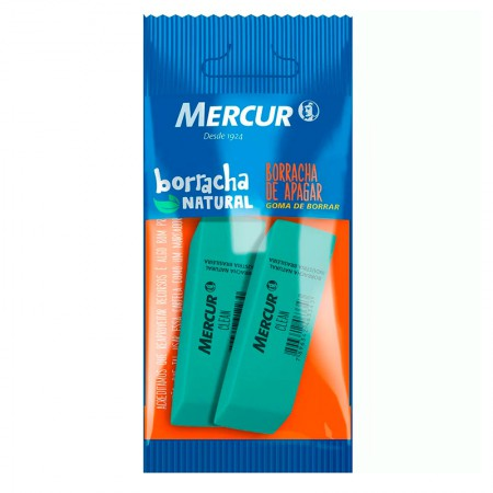 Borracha verde clean - blister com 2 unidades - Mercur