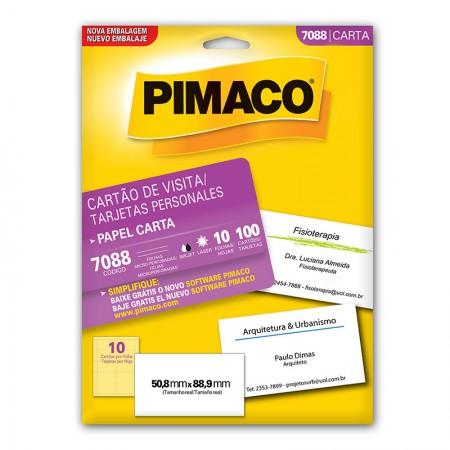 Papel cartão de visita personal card 7088 - com 10 folhas - 180GRS - Pimaco